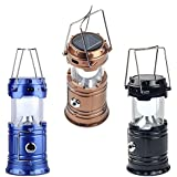 SHOPZIE Solar Lamp or Lalten Classic Flashlight Camping Light for Home, Rechargeable LED (6+1) Shop Light Portable Torch Waterproof Outdoor Lighting