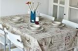 QWEASDZX Tischdecke Rechteckige Tischdecken Kein Geruch Umweltdruck Schutz Geeignet Für Familie Esstisch Esstisch Picknick Im FreienCoffee Shop 140x180 cm