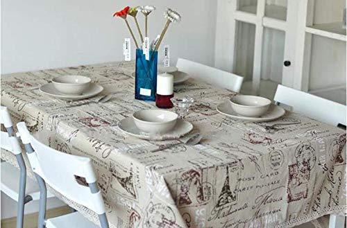 Rechteckige Tischdecken Kein Geruch Umweltdruck Schutz Geeignet Für Familie Esstisch Esstisch Picknick Im FreienCoffee Shop 140x160 cm ()