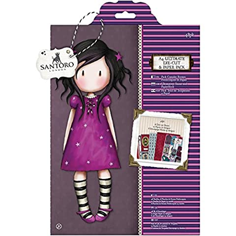 Docrafts A4 Ultimate Die-Cut and Paper, Santoro (Pack of 48