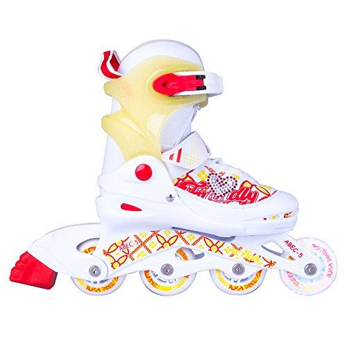 WORKER Kinder Inliner Action Joly Inline-Skates mit Leuchtenden Rollen, Verstellbar (XS 26-29)