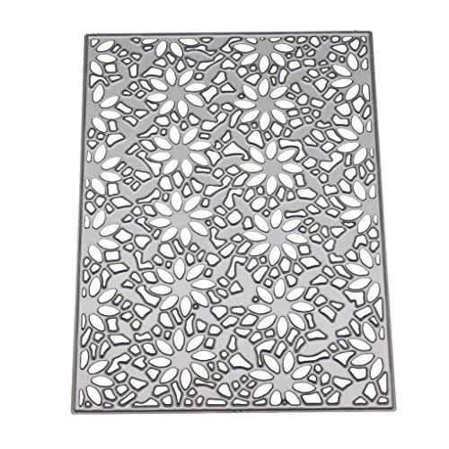 Kakiyi Blumen-Hintergrund Carbon Steel Cutting Die DIY Scrapbooking Stencils Papier Kartenvorlagen