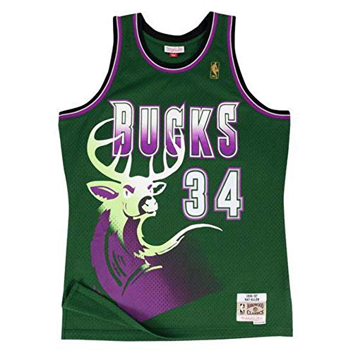 Camiseta Swingman vintage Mitchell   Ness Ray Allen Milwaukee Bucks Talla S 9bfe0413c