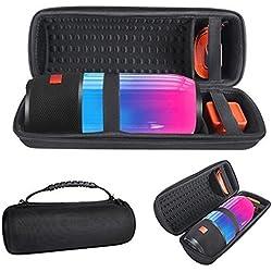 MaxKu Housse EVA Dur Cas for JBL Pulse 3 Pulse3 Voyage Etui Sac Case pour Pulse3 Stéréo Portable sans Fil Bluetooth Haut-Parleur, Convient Chargeur et Cbles
