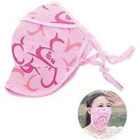 Zoylink Máscara De Verano para Mujer Mascarilla Facial Máscara Al Aire Libre Respirable Antipolvo A Prueba De Viento