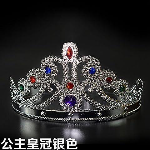 Festa di Halloween testa Crown Princess contrario re ornamenti di testa la corona Regina raccolta morsetto terminale per tenda re regina ,20*16cm,2