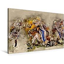 "Premium Textil-Leinwand 90 cm x 60 cm quer, American Football | Wandbild, Bild auf Keilrahmen, Fertigbild auf echter Leinwand, Leinwanddruck: Ein ... cool "" von Peter Roder (CALVENDO Sport)"