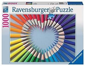 Ravensburger - 19390 - Puzzle Classique - Cœur De Crayons - 1000 Pièces