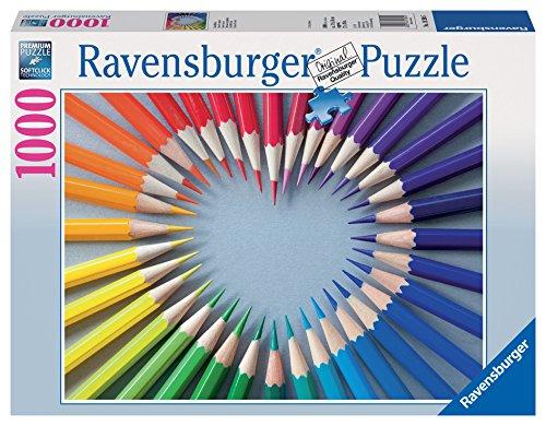 Ravensburger 19390 5 - Color My Heart, Puzzle 1000 Pezzi