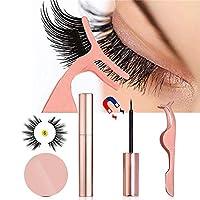 MOGOI Magnetic Eyelashes Kit, Magnetic False Eyelashes Magnetic Liquid Eyeliner And Tweezers, No Glue Full Eye 5 Magnets Reusable Fake Eyelashes Natural Soft Eyelashes Extensions