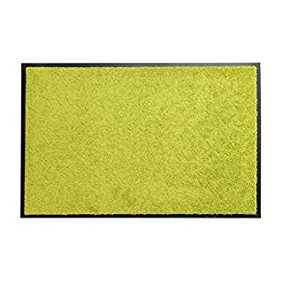 Premium floor mat or dirt trap mat Sansibar: extremely hard wearing, suitable for outside and inside, washable, PVC-free, dirt mat, door mat, entrance mat, lemon, Sansibar 40x60 cm
