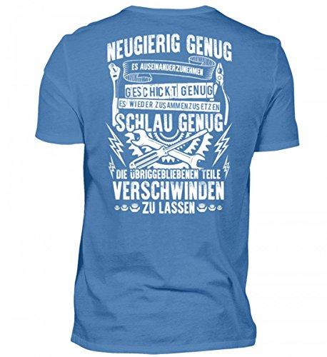 Hochwertiges Herren Premiumshirt - Mechaniker: Neugierig, Geschickt und Schlau Genug Mann Geschek Schrauber