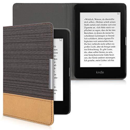 kwmobile Amazon Kindle Paperwhite (10. Gen - 2018) Hülle - Canvas eReader Schutzhülle Cover Case für Amazon Kindle Paperwhite (10. Gen - 2018)