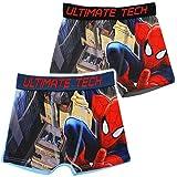 2 tlg. Set _ Slip / Boxershort - ' Spider-Man ' - Größe 4 bis 5 Jahre - Gr. 110 bis 116 - Baumwolle - Unterhose - Unterhosen / Slips - Panty - lang - Unterwäsche - Kinderunterwäsche - für Jungen Kinder Badepants - Shorts mit Bein - Pants - Spiderman / the Amazing - Comic Held Figur Spinne - Boxershorts - Boxer / Badebekleidung - Badepanty / Badehose / Badeshorts