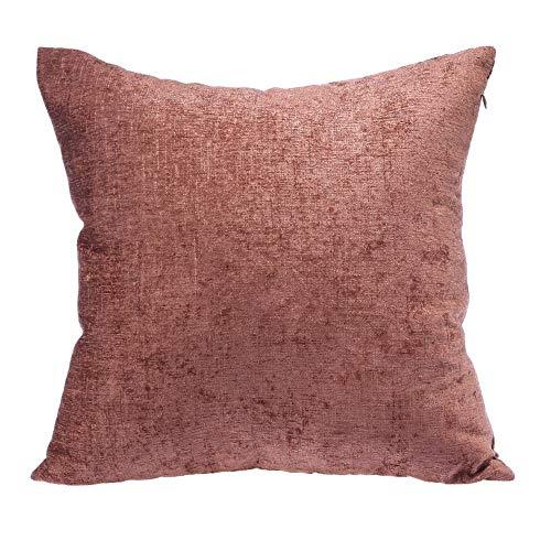 PYXM Sofa Kissen Dekorative Quadratische Dekokissen Cases Komfortable Kissenbezüge Für Sofa Couch Und Bett 45X45cm,Braun