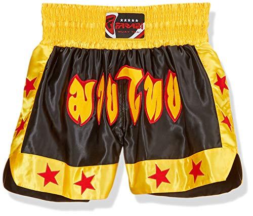 FARABI Combat Shorts for Boxing MMA Muay Thai Fight Shorts (Large)