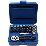 Multi Steckschlüsselsatz MINI Knarrenkasten Nusskasten Schraubenschlüssel Bit 1/4