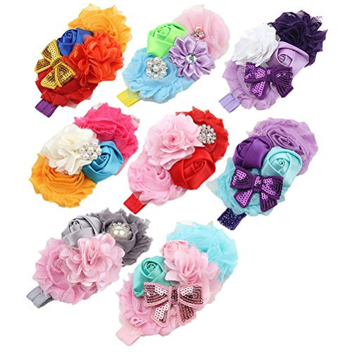 BESTIM-INCUK-8-Pack-Assorted-Color-Baby-Girls-Flower-Headband-Rose-Sequins-Bow-knot-Headwears