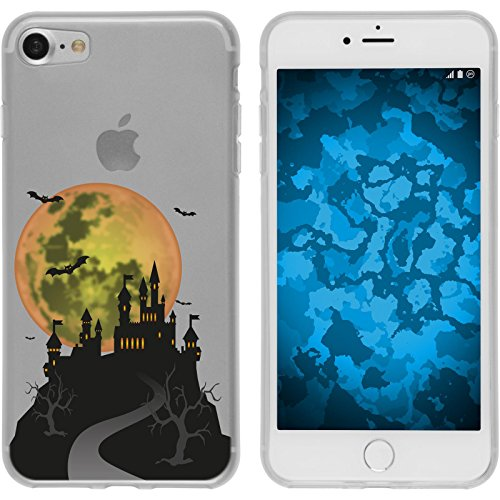 PhoneNatic Apple iPhone 7 / 8 Custodia in Silicone autunno M2 Case iPhone 7 / 8 + pellicola protettiva Motiv:04
