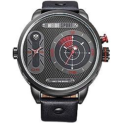 Alienwork Quarz Armbanduhr XXL Oversized Quarzuhr Uhr Outdoor schwarz Polyurethan OS.WH-3409-B-5
