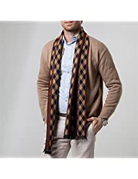 GZXCPC Modern Warm Soft Dense And Skin-Friendly Men'S Scarf Made Of Artificial Cashmere, Pattern Of Rhombuses, 180 * 30cm, In Winter, No Wrinkles And Pilling, 5 Colors , 1