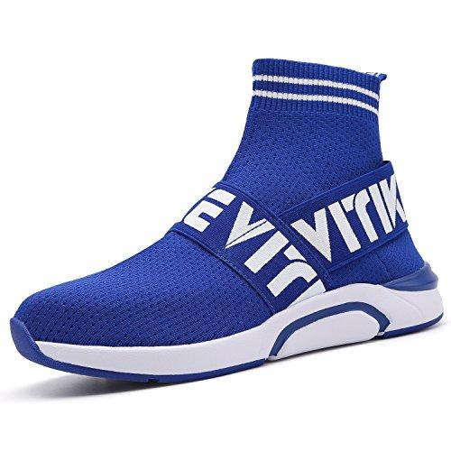 Ragazzi Ragazze Sneaker Outdoor Athletic Scarpe da Corsa Casuali Calze Scarpe