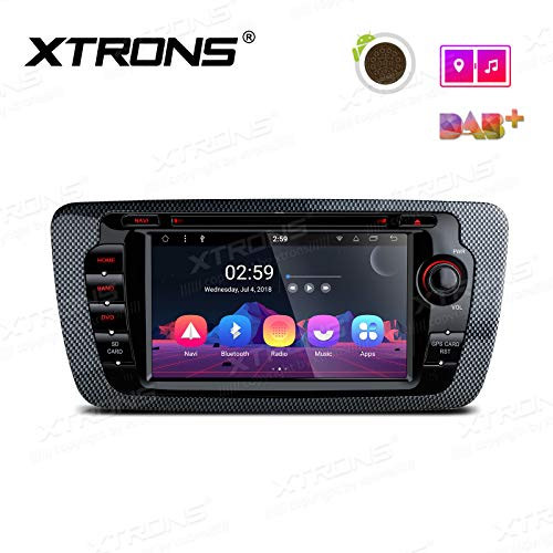 "XTRONS 7"" Auto Touchscreen Autoradio Auto DVD Player mit Android 8.1 Octa-Core Multimedia Player untersützt 4K Video WiFi 4G Bluetooth5.0 2GB RAM 16GB ROM DAB & OBD2 FÜR Seat Ibiza"