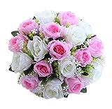 Tomatoa Wohnaccessoires & Deko Künstliche Kunstblumen 1 Bouquet 18 Blume Künstliche Rose Gefälschte Seide Blume Blatt Braut für Hochzeit, Party, Blumenstrauß und Heimdeko Blumendekoration Bridal (G)