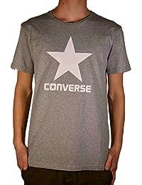Converse SS Crew Logo Modern Homme T-Shirt Gris