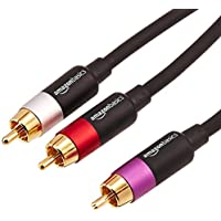AmazonBasics PBH-20214 - Cinch-Audiokabel, 1 x Cinch-Stecker auf 2 x Cinch-Stecker, 2,4 m