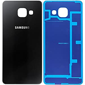 Original Samsung Akkudeckel black / schwarz für Samsung A310F Galaxy A3 (2016) - (Akkufachdeckel, Batterieabdeckung, Rückseite, Back-Cover) - GH82-11093B