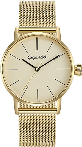 Gigandet Women's Quartz Wrist Watch Minimalism Analogue Stainless Steel Mesh Bracelet Gold G43-021