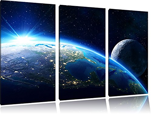 the-earth-and-its-moon-from-space-3-piece-canvas-picture-120x80-image-on-canvas-xxl-huge-pictures-co