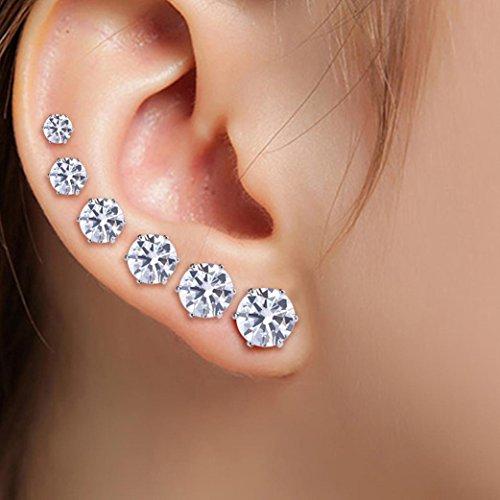 Ohrstecker Damen,DOLDOA Kristall Strass Ohrringe Schmuck Earring Ohr Ring Ohrschmuck (6 Paare - gesetzt - Meerjungfrau Paare Kostüm