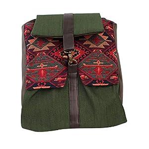Rucksack Damen 33cm wasserdicht 'grün' greca| Tasche | HANDMADE | Geschenkideen für Frauen