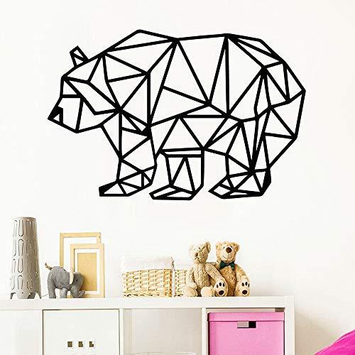 woyaofal Romantic Geometric Bear Wall s Self Adhesive Art Wallpaper for Kids Rooms Home Decor Wall Decoration XL 57cm X 86cm