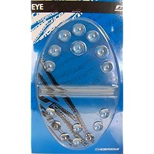 Icetools Eye tranparent-oval Stomp Pads f. sicheren Stand auf d. Snowboard – Pad für Snowboardbindung