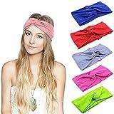 Turbante Para Mujer Color Puro Venda De Pelo Diadema Accesorios Para El Cabello (8pcs color sólido)