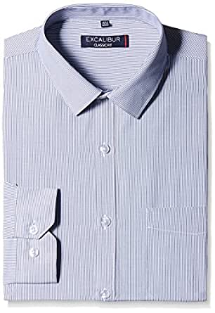 Excalibur Men's Formal Shirt (8907242218427_263122229_42_Navy)