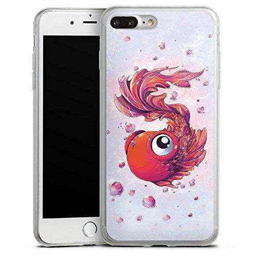 Apple iPhone X Slim Case Silikon Hülle Schutzhülle Fisch Goldfisch Comic Silikon Slim Case transparent
