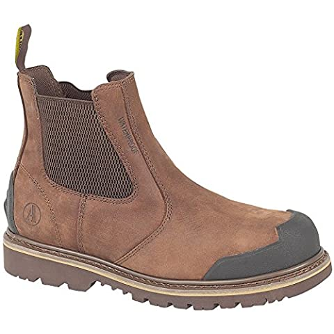Amblers Steel FS225 Mens Nubuck Dealer Safety Work Boots Brown