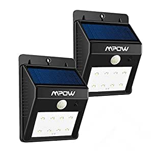 2 pack 8 led eclairage exterieur imperm able mpow. Black Bedroom Furniture Sets. Home Design Ideas