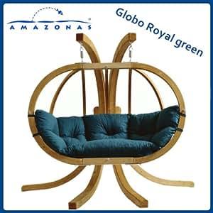 AMAZONAS - Balancelle GLOBO ROYAL Vert avec support