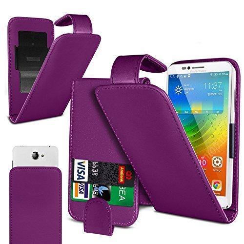 Preisvergleich Produktbild N4U Online - Clip On Kunstelder Klapptasche Cover Beutel Für Cubot Note S - Verschiedene Farben - Lila