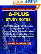 #10: APSN CFA 2013 Level 1 Study Session Financial Statement Reporting and Analysis