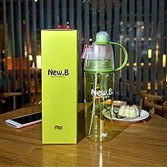 Idea Regalo - PROKTH 600ml Spray mist bottiglia, escursionismo ciclismo sport bottiglie d' acqua portatile mist acqua potabile Cup, unisex, Green
