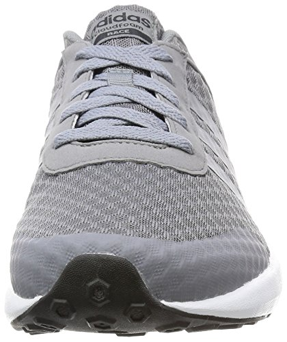Adidas Cloudfoam Race, Scarpe Fitness Uomo Gris-gris-noir