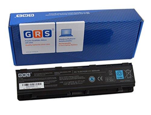 GRS Batterie d'Ordinateur Portable fç ¬ R Toshiba Pro C805, C850, C870, L800, L850, L830, L870, M800 M805 remplaçant, PA5024U-1BRS, PA5024U-1BRS Bas, PABAS261, batterie ordinateur portable 6600 mAh, 10,8 V