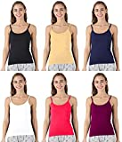 Desigrip Women's Multicolour Adjustable Strap Slips (Pack of 6)