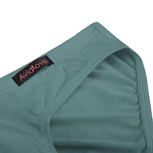 Yoliki Sexy Herren Slip Set aus Modal 4 pcs Set Männer Unterwäsche Unterhosen Grün